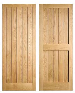 Framed and Boarded Oak Door EC Forest products
