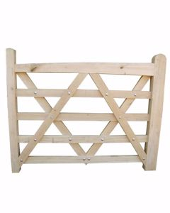 Solid European Oak Field Gate. Available in different sizes from EC Forest Products.