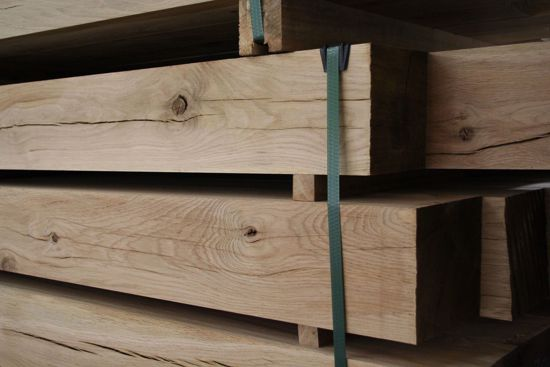 Planed All Round Oak Beam in EC Forest Products yard.