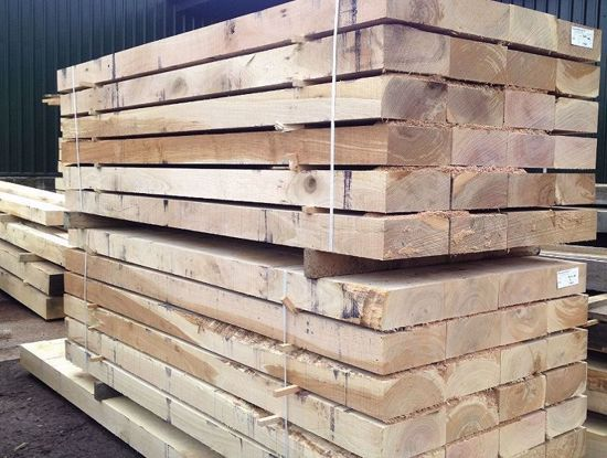 Fresh Sawn Sleeper Packs EC Forest Products Yard