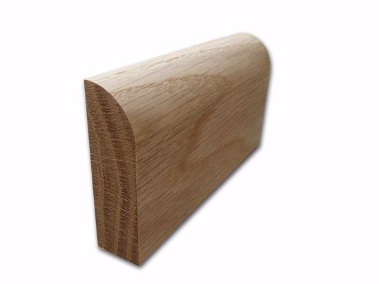 Bulnose Skirting in Oak. Available from EC Forest Products